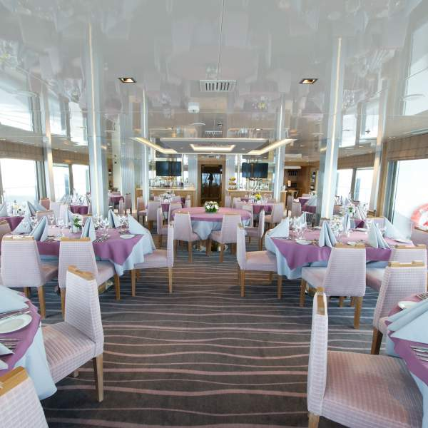 Enjoy breathtaking scenery from the sun deck