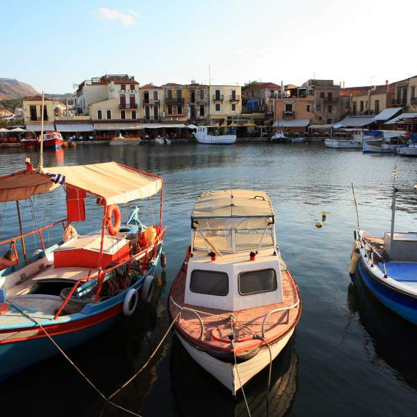 The charm of the small port of Rethymnon