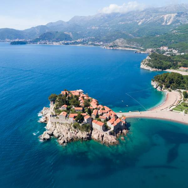 The peninsula of Sveti Stefan