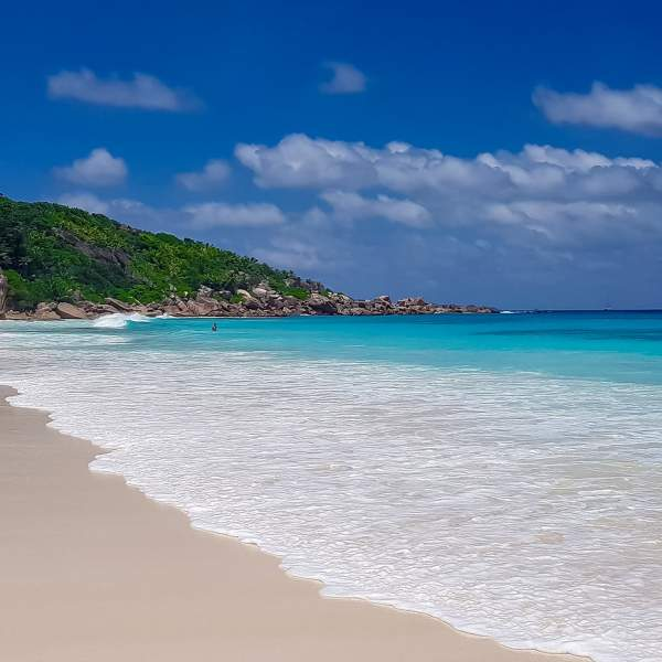 Enjoy the tranquility of Petite Anse beach