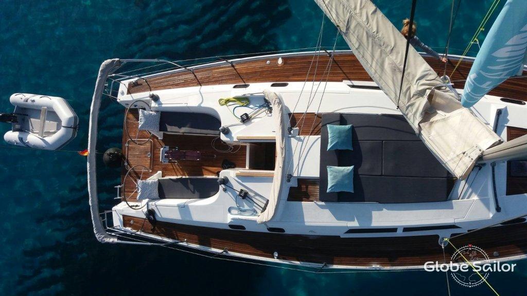 Noleggio hanse 430 dal porto di club nautico di ibiza a for Noleggio di cabine di istrice