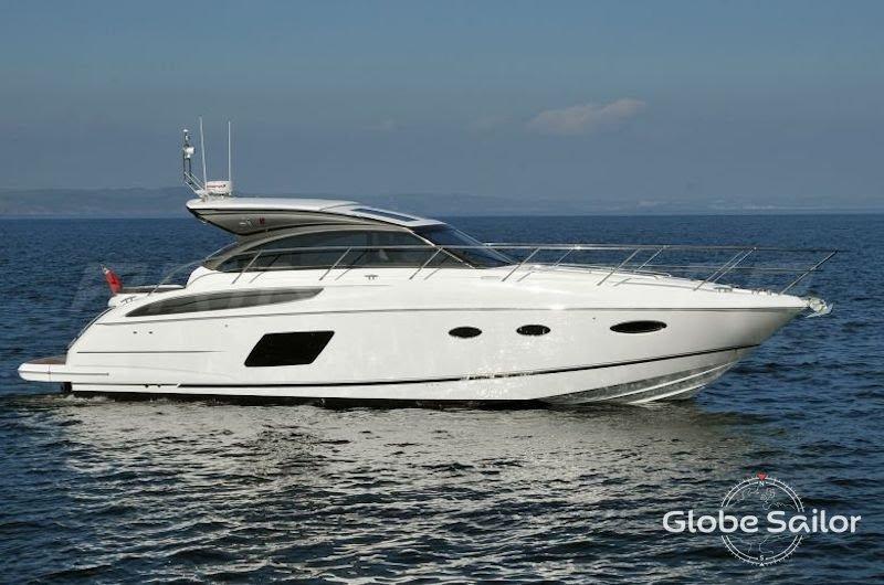 Location princess v48 depuis le port de port grimaud en france n 22775 373 - Location bateau port grimaud ...