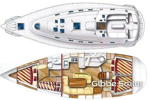 location gib sea 43 depuis le port de biograd na moru en croatie n 290 294. Black Bedroom Furniture Sets. Home Design Ideas