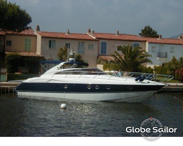 Location princess v50 depuis le port de port grimaud en france n 3252 373 - Location bateau port grimaud ...
