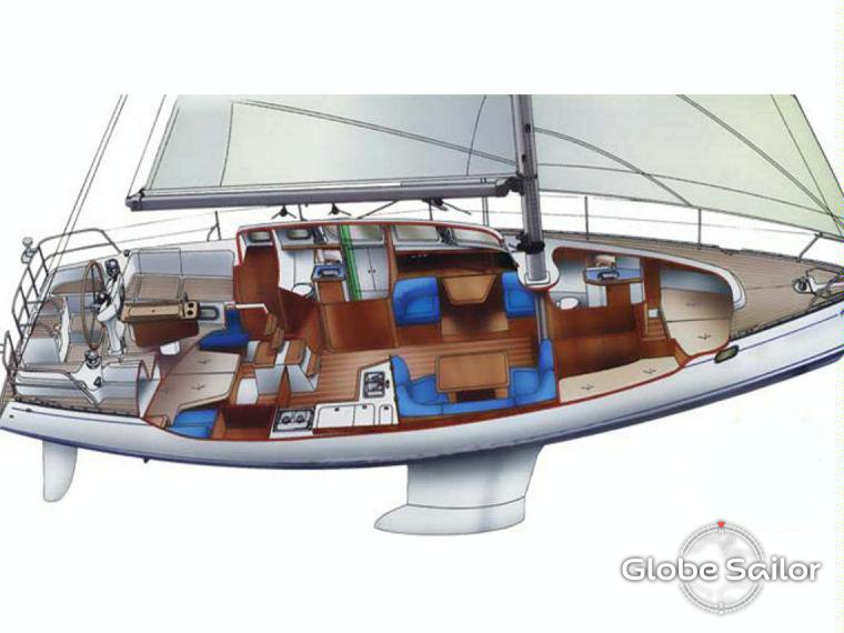 Rental Sun Odyssey 43 DS from the charter base Vodice in ... | 760 x 570 jpeg 52kB